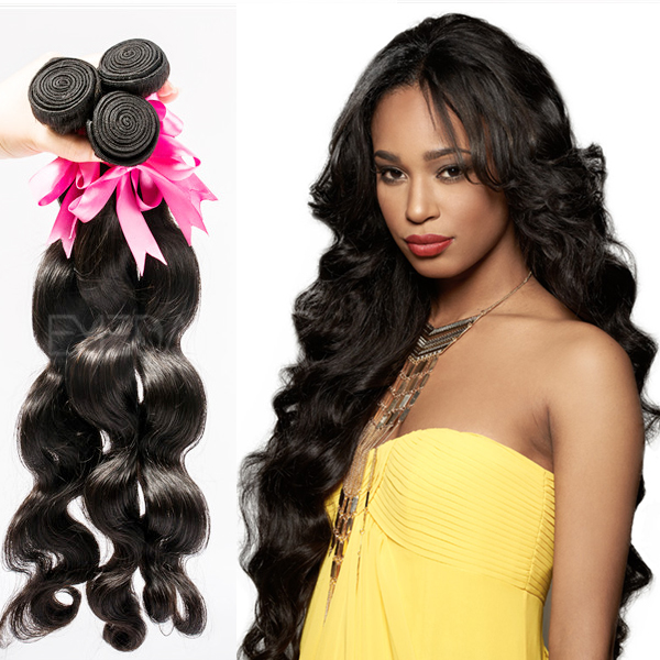 Grade 7A brazilian black human hair extensions YJ