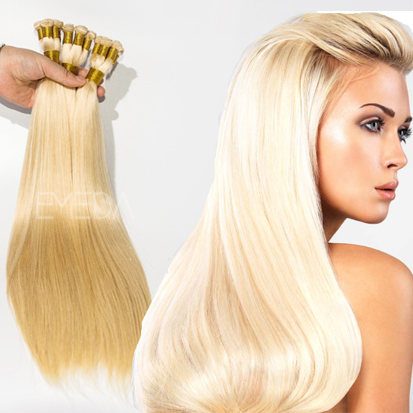 Bleach blonde hair extensions YJ88
