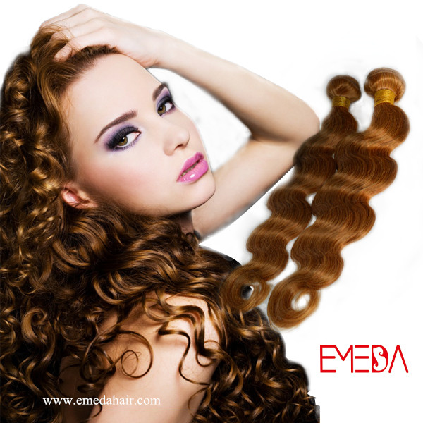 body wave human blond hair extension XS019