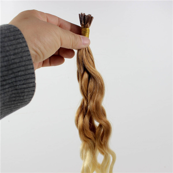 Blonde Curly Ombre Keratin Hair Extensions Zj0074 Emeda Hair