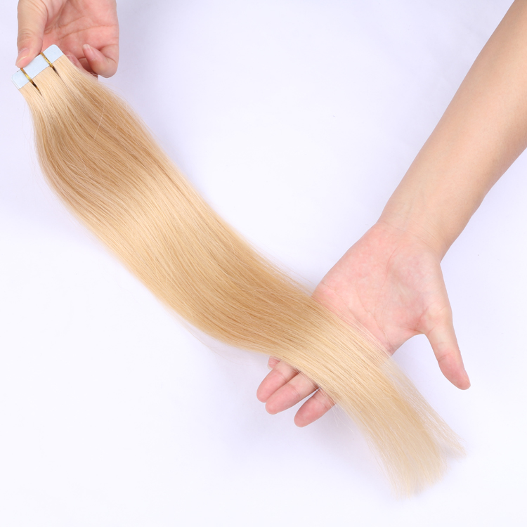 Double drawn tape hair extensions virgin hair blonde great lengths LL-001