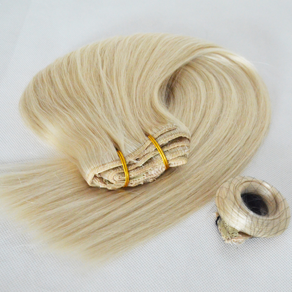 China Hair Thickening Factory Remy Human 8-30inch Clip In Extensions Manufactures  LM357