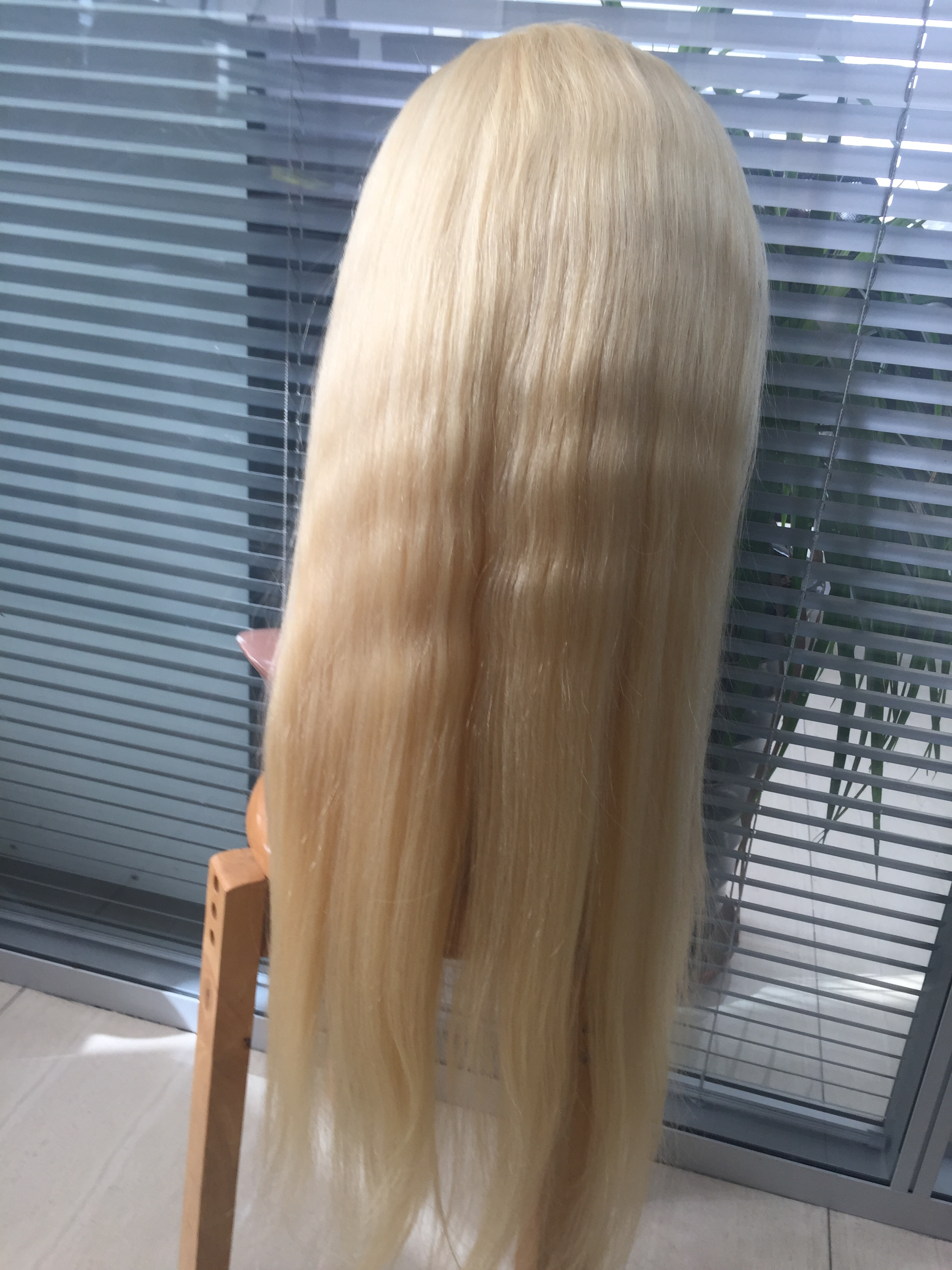 Blonde wigs one donor hair best quality hair full lace and lace front wigs for women YL219