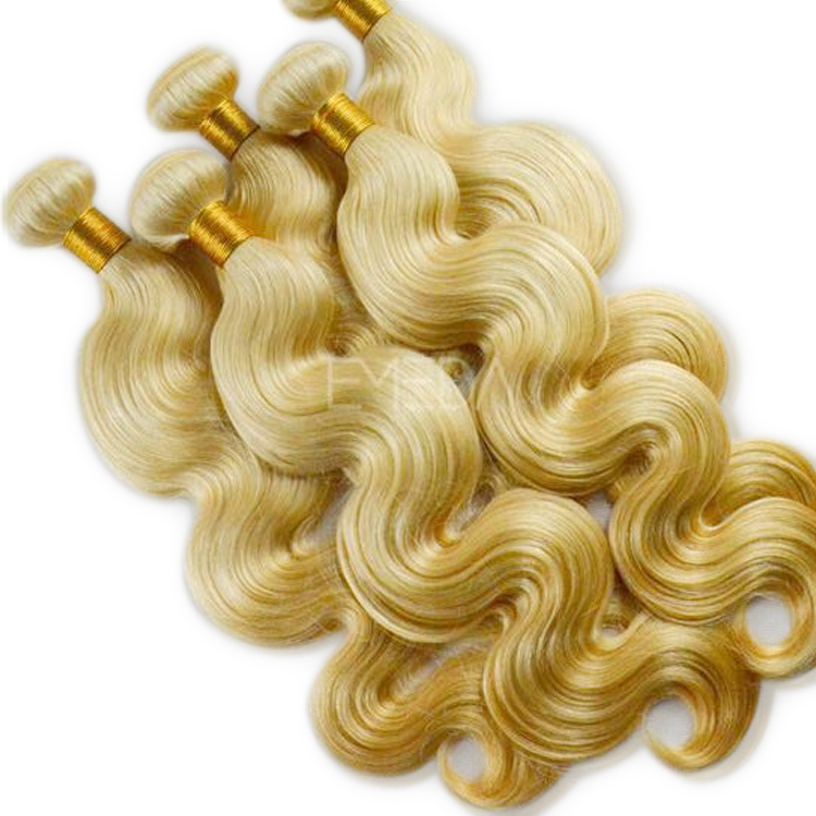 613 Blonde Human Hair Weft Remy Best Quality Hair Extensions Brazilian Hair Weave  LM276