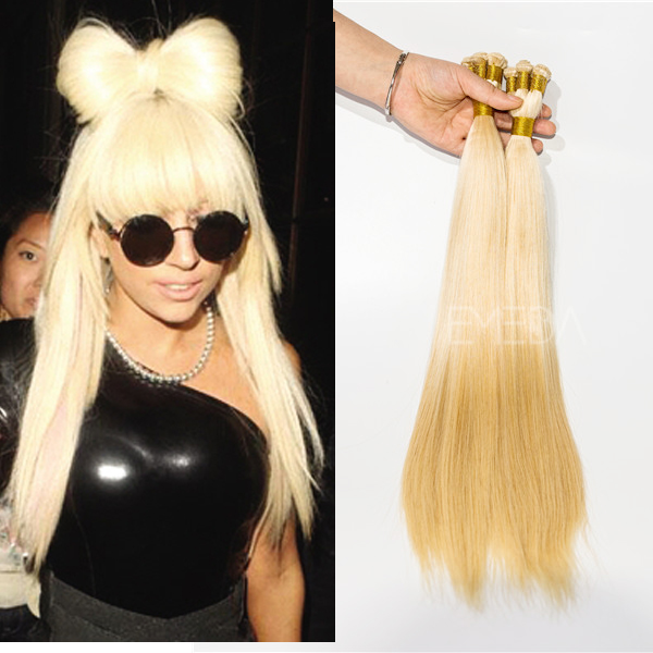 Avilable Brazililan Peruvian Indian Malaysian blonde human hair extensions  YJ