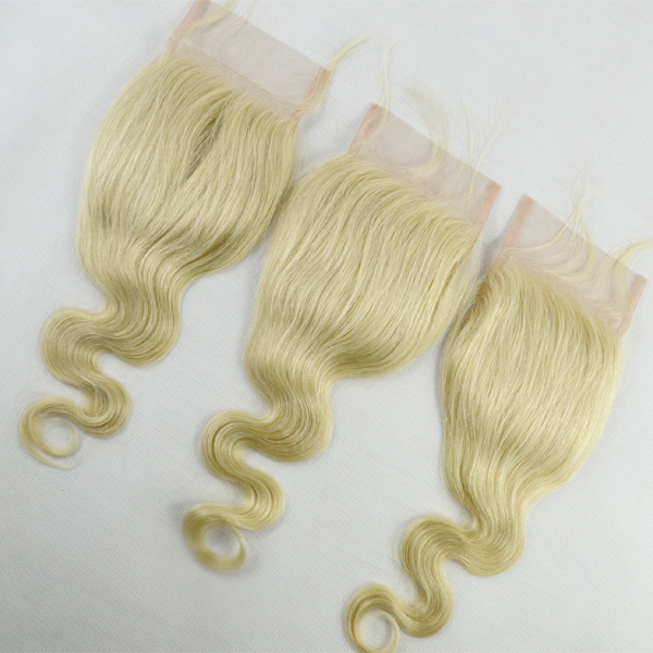 Blonde lace closure