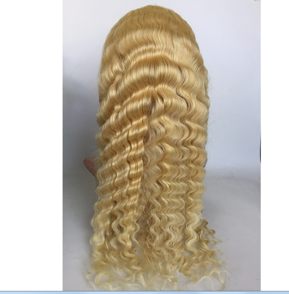 Human hair virgin hair 13*6 lace front wigs  blonde straight wave in stock wholesale price YL484