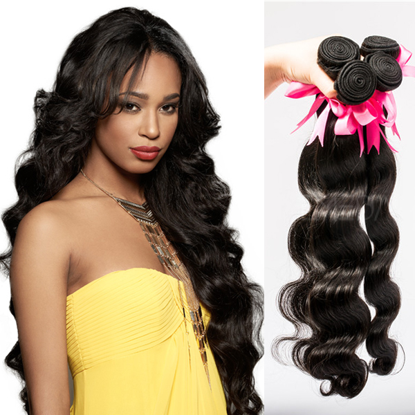 Hair factory body wave narural black hair extensions black hair wefts YJ