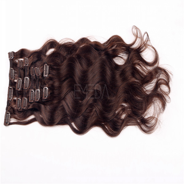 China Clip In Remy Hair Extensions Wholesale Manufacture Curly Clip Hair LM322
