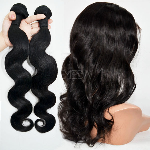 Indian temple hair virgin hair weft natural color body wave CX001