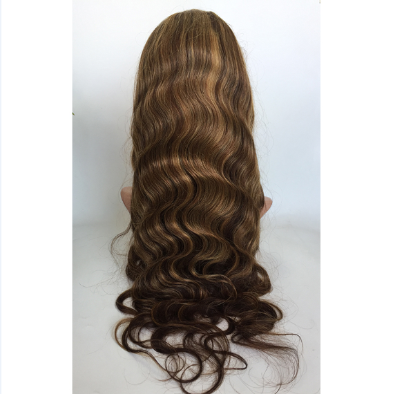 #4 Highlight 27 Human hair virgin hair wigs straight wave in stock wholesale price YL483