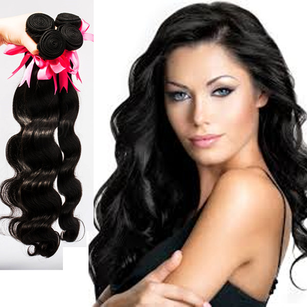 7A 100% natural indian human hair unprocessed virgin cuticle hairextensions YJ199