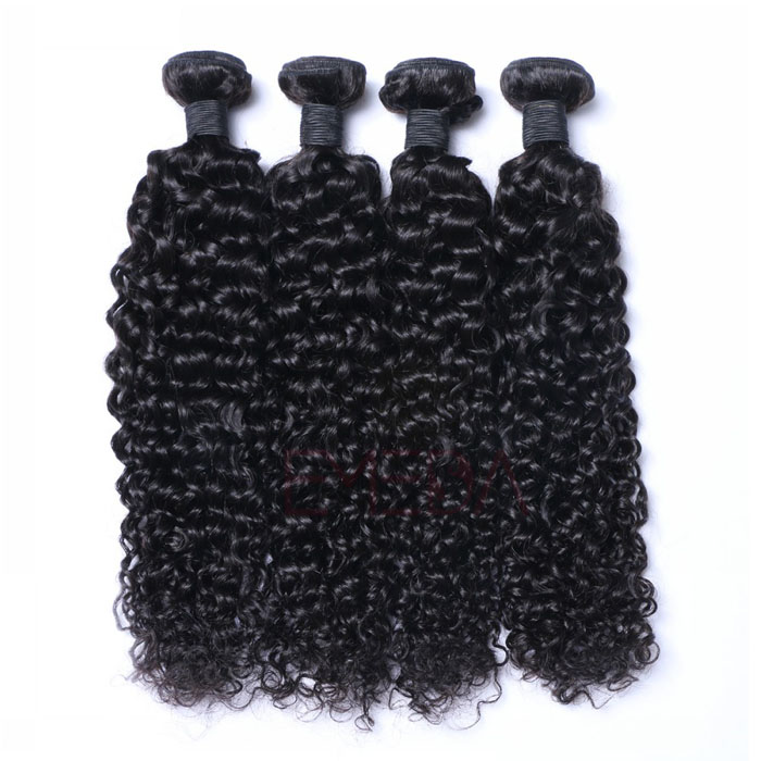 Hair Virgin Bundles with Closure Brazilian Human Kinky Curly Hair      LM032