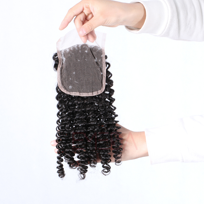 EMEDA Free Style Brazilian Hair Lace Closure kinky curly Baby hair 4