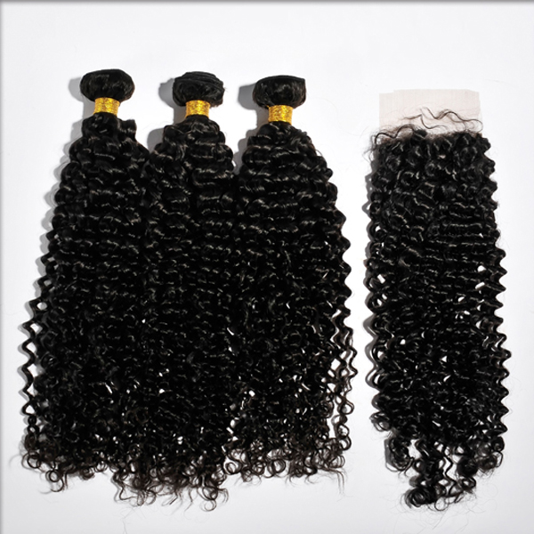 brazilian human hair lace closure WJ6