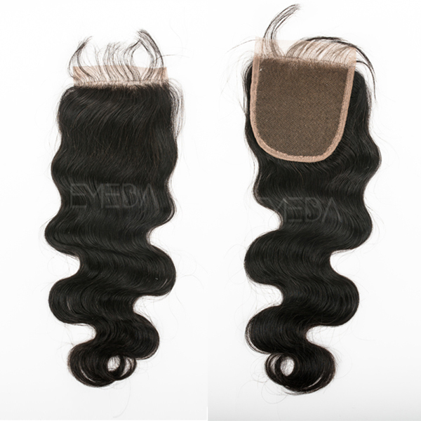 Wholesale top grade 7A virgin remy brazilian lace closures YJ185