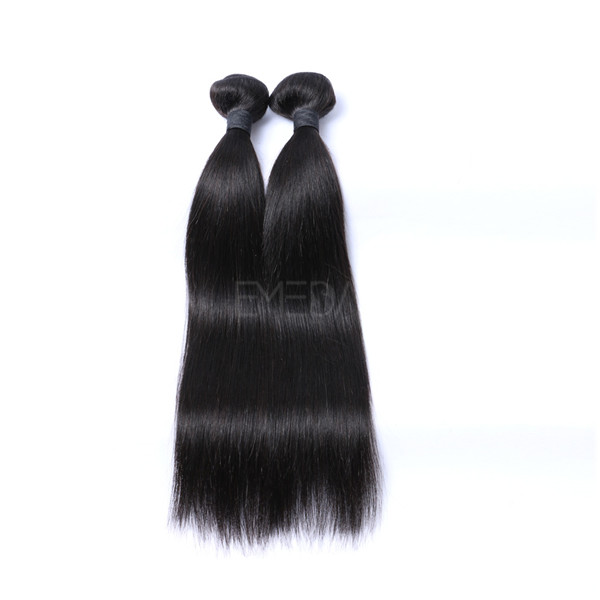 Silk straight brazilian human hair weave LJ208