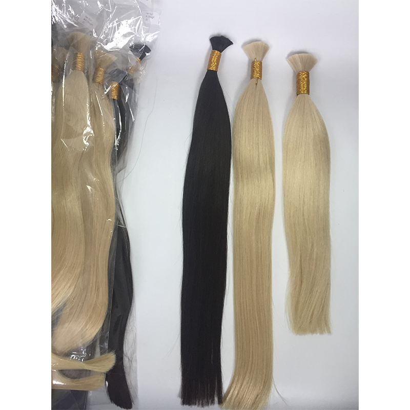 Natual black , blonde brown colors hair bulk factory price good quality remy virgin hair YL433