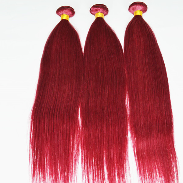 Virgin unprocessed hair Christmas gift Burg color lp112
