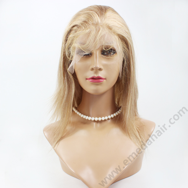 Blond color Full lace best wigs LJ164