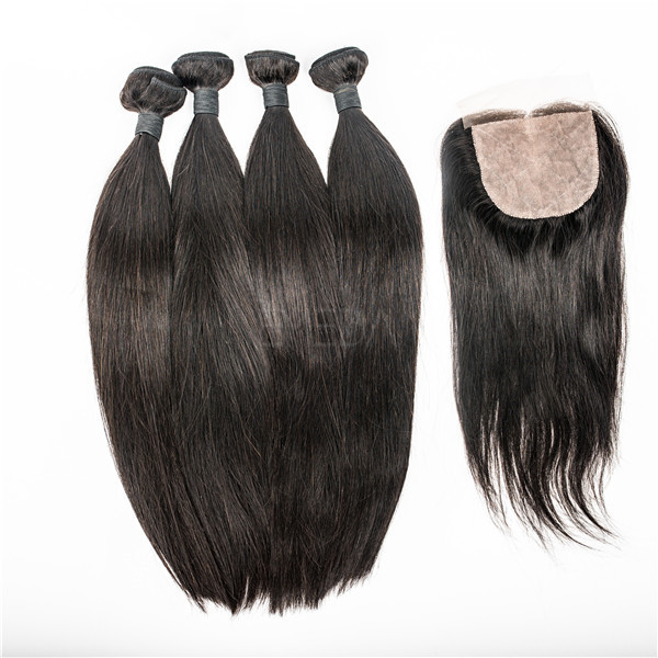 Brazilian straight hair silk lace closure  LJ67