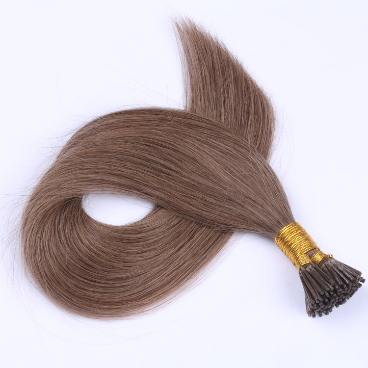 Double Drawn mini I tip hair extensions keratin extension factory made in China YJ321