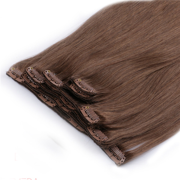 China Thick End Clip On Hair Extension Quotation Manufacture Invisible Hair Extension LM400