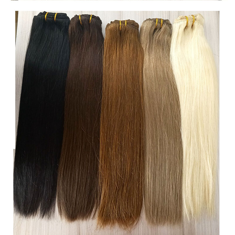 Clip in hair 120 gram straight brown black blonde color  remy hair eatensions YL307