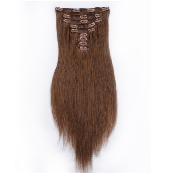 High quanlity clip in human hair extensions 300g XS068