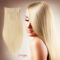 Clip- in hair extensions 100% human hair  YL157