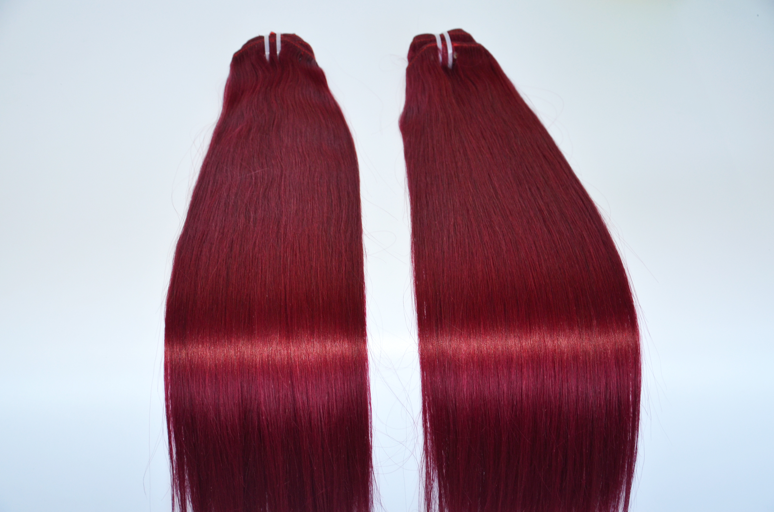 Wine red clip in hair  extensions 120g 160g 300g hair extensions YL364