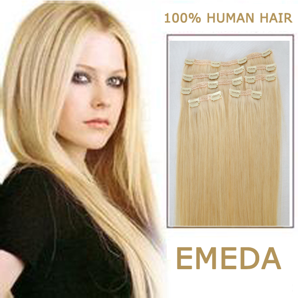 EMEDA clips in hair extensions Factory real hair extensions wholesale price list HW071