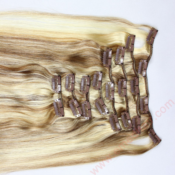 human hair extensions clip in