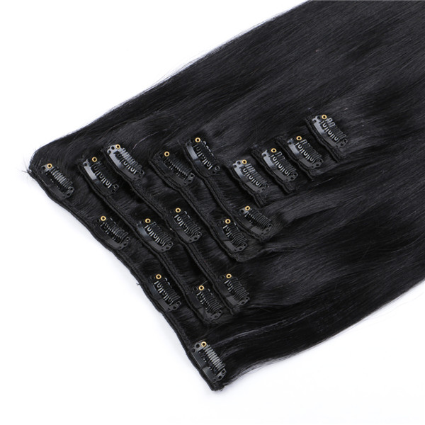 China Natural Hair Clip Extensions Manufacture Wholesale Cheap Clips