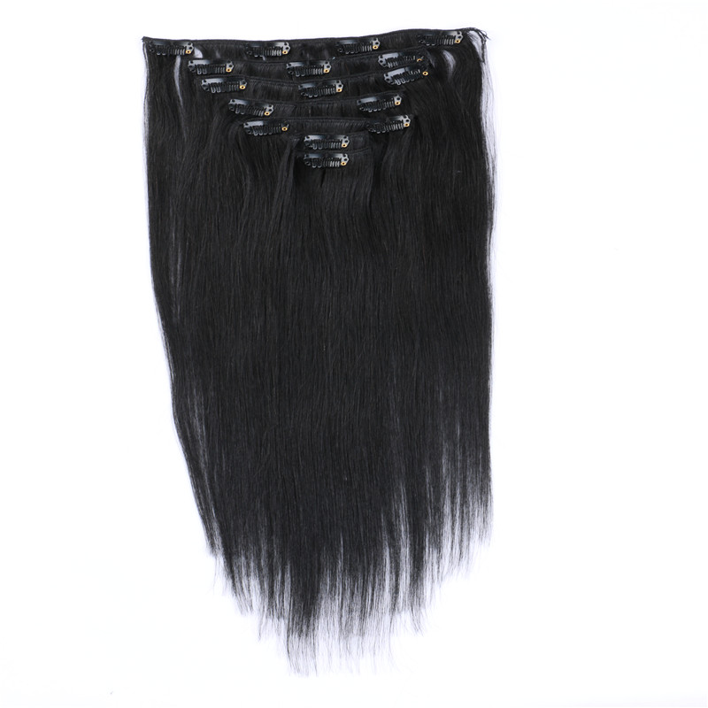 Clip In Human Hair Extensions Good Value Brazilian Hair Extensions WK099