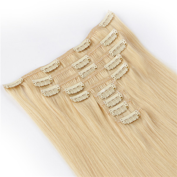 Emeda Factory Supply Brazilian Remy Hair Blonde Clip In Hair Extensions  LM099