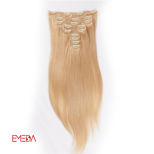 Good Quality Clip In Human Hair ExtensionsWJ066