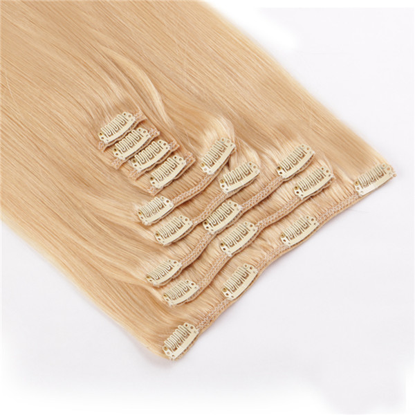 Brazilian Remy Hair Extensions Weave Hair Clips Real Human Hair Clip Extensions LM401