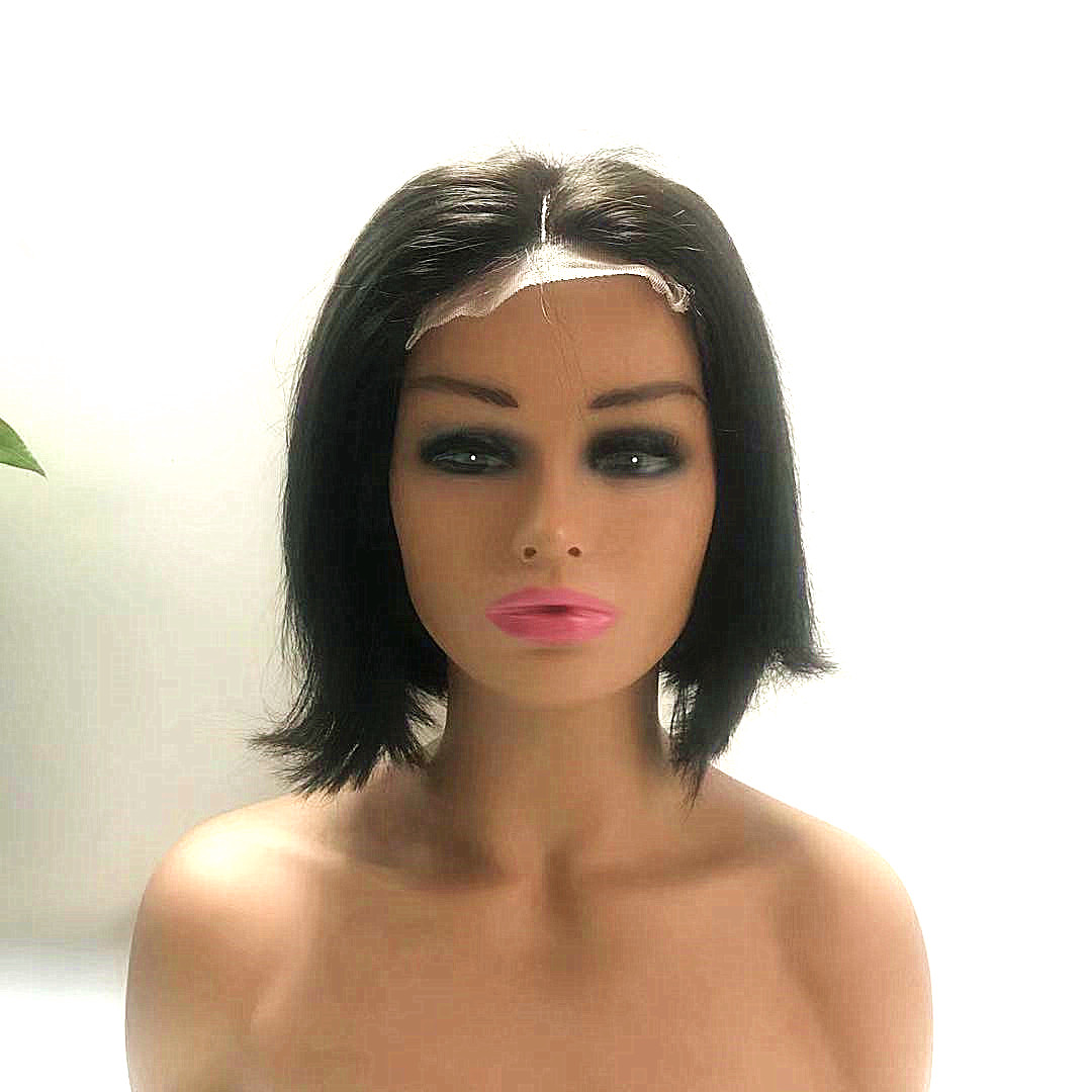 4x4 closure wig Pixie wig for fashion lady bob wig 10 inch WK269