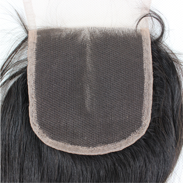 Brazilian virgin hair  hair extensions hair bundles 4*4 lace closures HN117