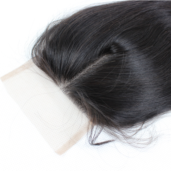 Human hair Bundles With Closure  Remy Hair  inch Lace closure Free Part YL242