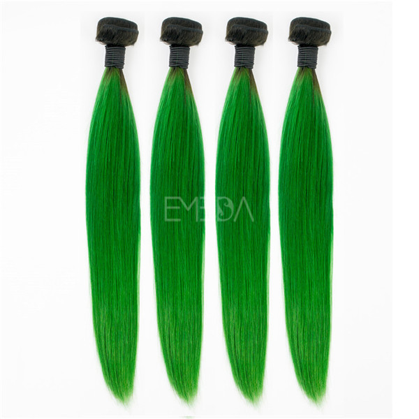 Wholesale light green Peruvian gorgeous hair extension online YJ178