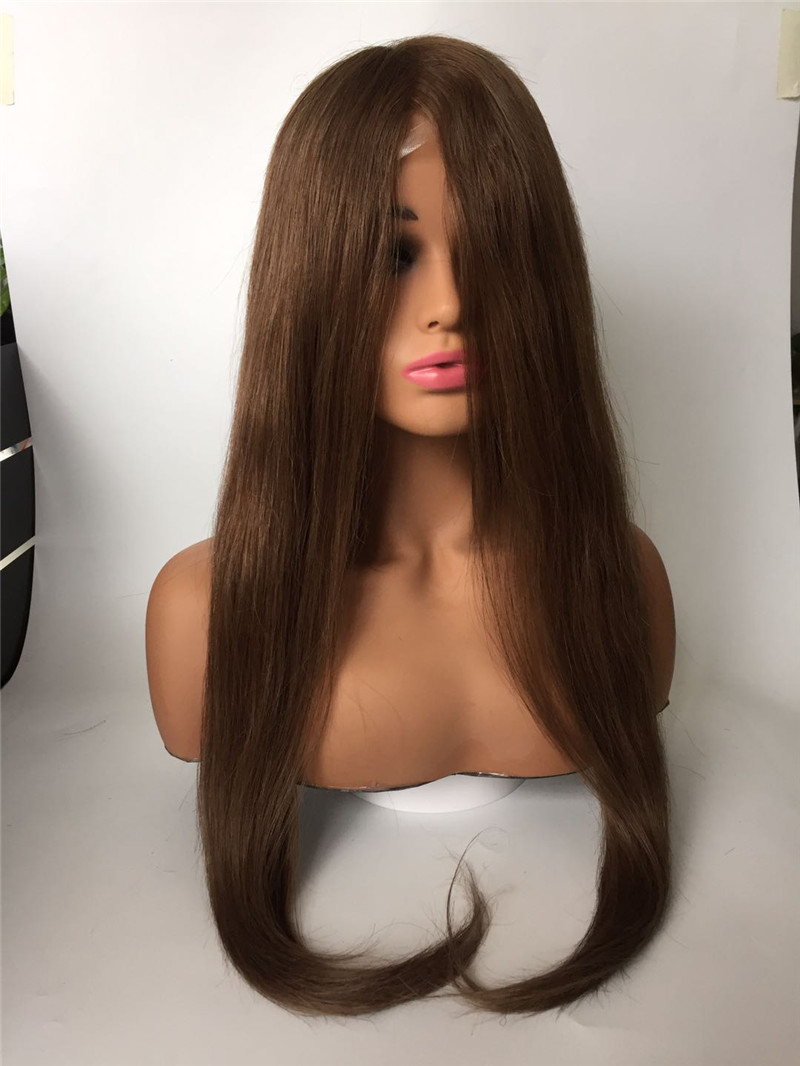 Wig with PU lace middle PU around light color WK163