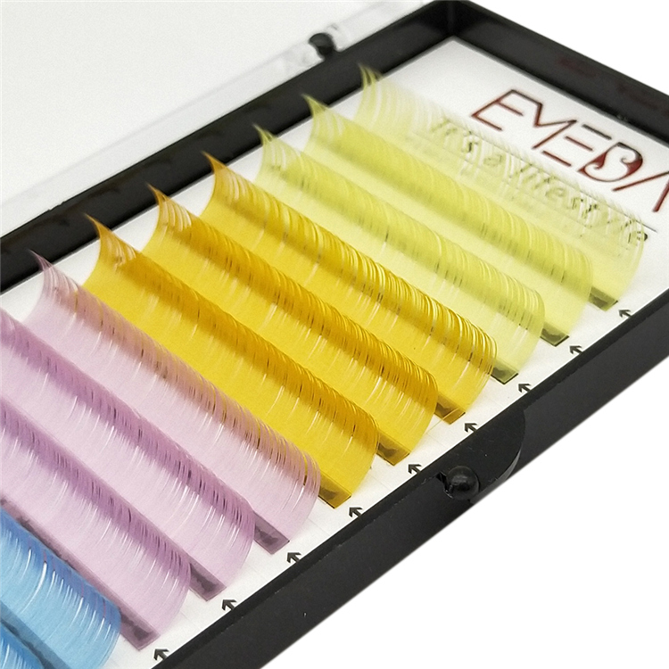 Colored Eyelash Extensions All Color Eyelashes High Quality Color Lashes PY19