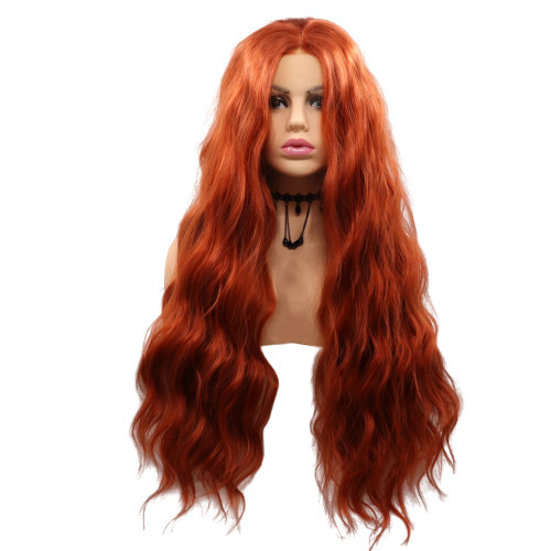 Fashion Lace front wig cooper orange beautiful color long length wig WK230