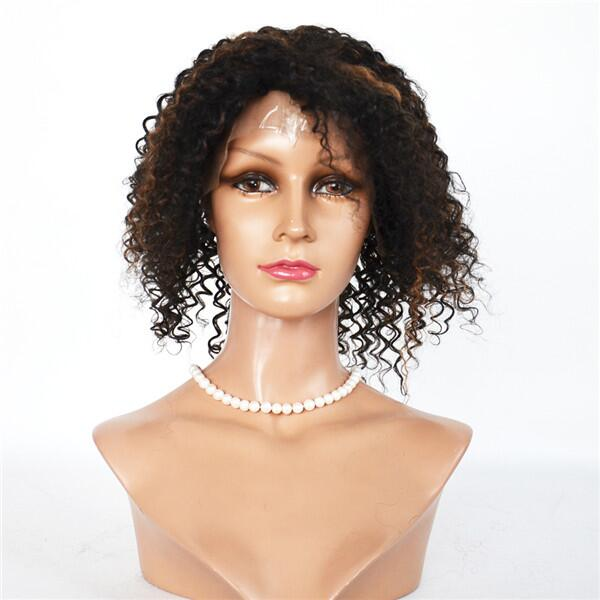 Have stock wig Natural color curl lace wig   LJ180