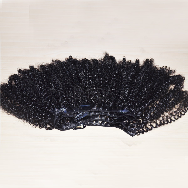 Kinky curly clip in hair extensions easy to use WK203