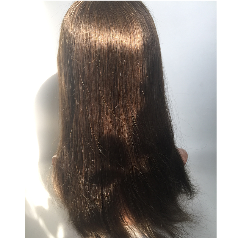 Women toupee human hair  remy hair brown color custom human hair piece YL438