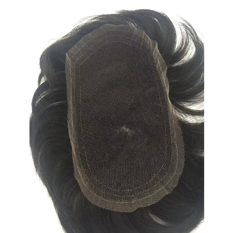 Swiss Lace Men Toupee Human Hair Toppers Hair Systems Pieces YL342