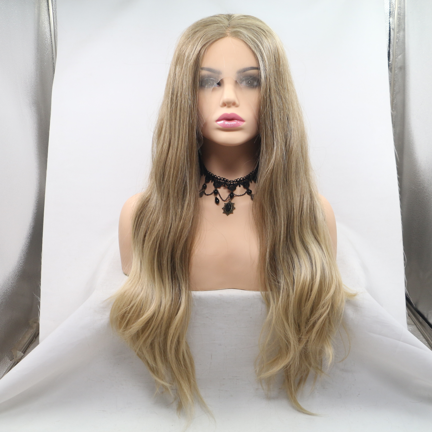 Real human hair natural hair dark golden most popular color in USA wig WK229